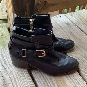 Coach size 5 black booties